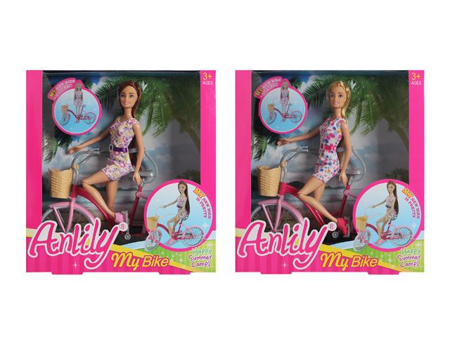Anlily lalka na rowerze